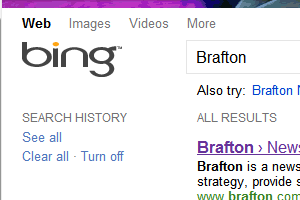 Bing search result page redesigns showcase users' Facebook icons (among other changes).