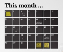 Monthly or quarterly calendars