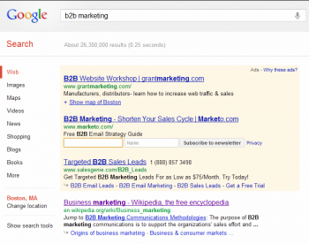 Google has added email marketing newsletter enrollment to its PPC capability, allowing users to signup for a company's content directly from the SERP.