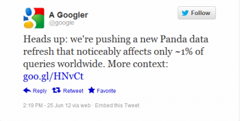 Google launched Panda 3.8 on Monday in another minor update for the company's algorithm.
