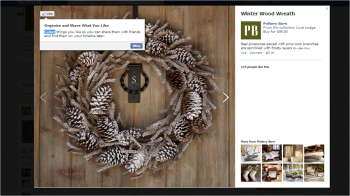 PotteryBarn Facebook's page was among the first to receive new Collect and Want capability.