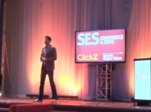 Hill Holliday's senior VP and director of social media Mike Proulx delivers a resounding keynote speech at SES NY about social TV.